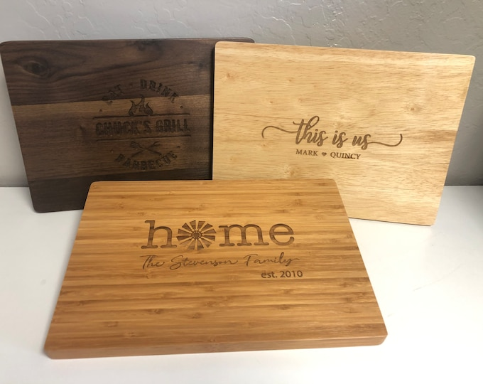 Your Home State, Personalized Cutting Board, Personalized Kitchen, Engraved Cutting Board, Kitchen Gift, Home State, Kitchen Git, New Home