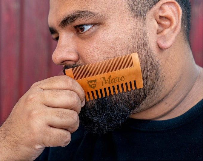 Beard Comb, Beard Brush, Gift for Dad, Gifts for Pop, Father's Day Gift, Dad Birthday Gift, Dad Comb, Best Dad, Gifts for Him, Custom Dad