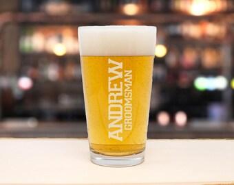 Beer Glass, Beer Gift, Beer Mug, Engraved Beer Glass, Pint Glass, Personalized Beer, Beer Lover, Groomsman Beer Gift, Wedding Beer Gift, Keg