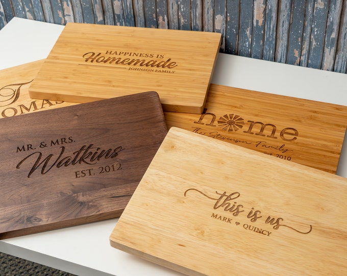 Housewarming Gift, Our First Home, New Home, Personalized Kitchen, Couple Cutting Board, Closing Gift, Real Estate Gift, First Home Gift