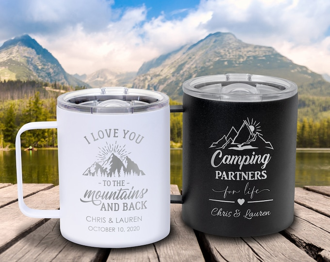 Insulated Wedding Mug, Insulated Mug, Adventure Mug, Mr and Mrs Mug, Metal Coffee Mugs, Bridesmaid Mug, Coffee Wedding Favors, Coffee Gift