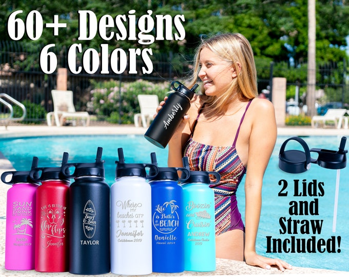 Personalized Water Bottle, 32oz Insulated Bottle