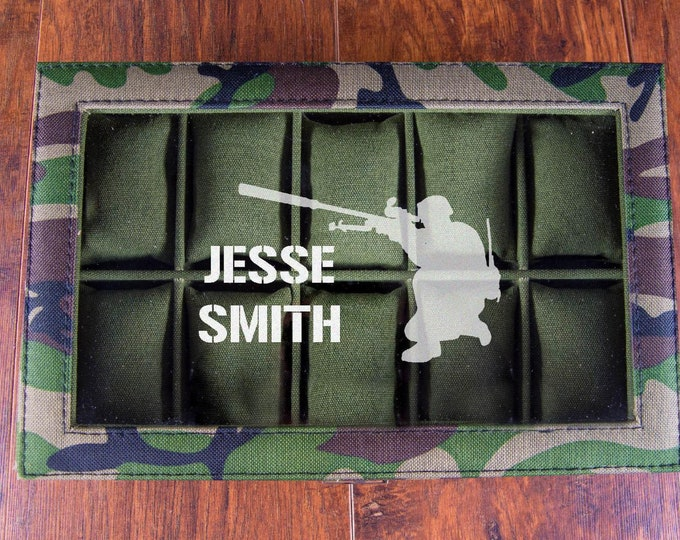 US Army Gift, Military Box Organizer, Watch Case, Army Gift Idea, Deployement Gift, Gift for Soldiers, Military Men, USA Sniper Box