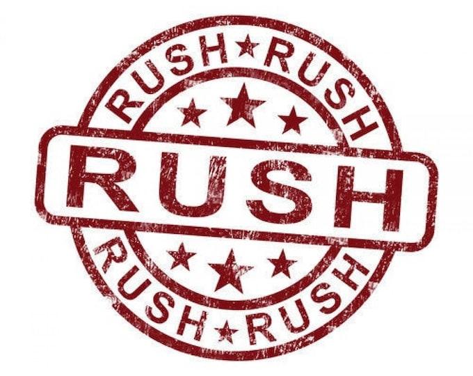 Rush & Expedite Fee