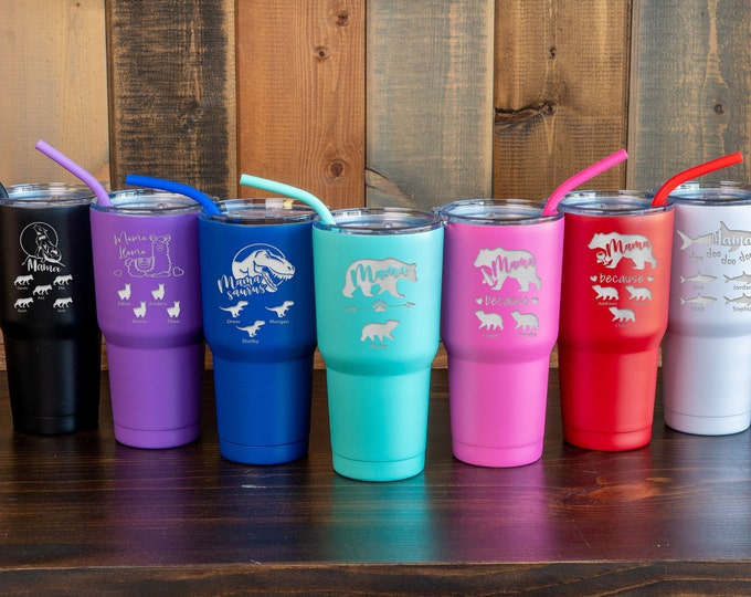 Mama Bear, Mama Bear Tumbler, Mama Llama, Mommy Shark, Wolf Mama, Baby Shower Mama Bear, Mother's Day Gift, Personalized Mom Tumbler