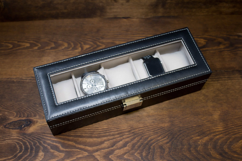 Watch Box For Men 5 Slot Watch Box Personalized Watch Box