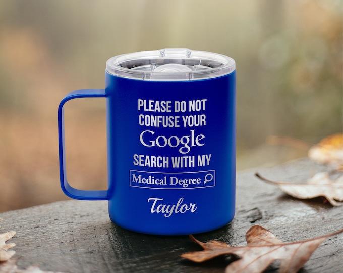 Doctor Mug, Insulated Mug, Nurse Mug, Healthcare Worker Gift, Metal Coffee Mug, Doctor Gift, Medical Mug, Coffee Gift, Healthcare Hero