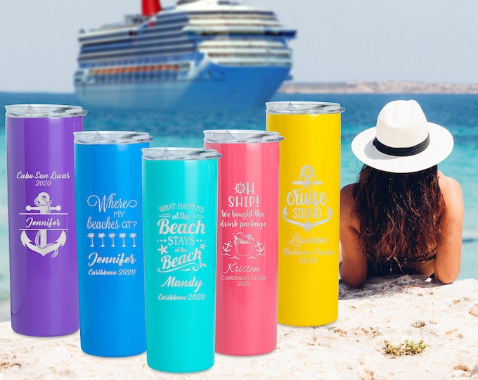Beach Tumbler, Cruise Tumbler, FE Gifts, Family Vacation Cups, Girls Cruise Trip, Cabin Gift, Family Cruise, Vacation Tumbler, Disney Cruise