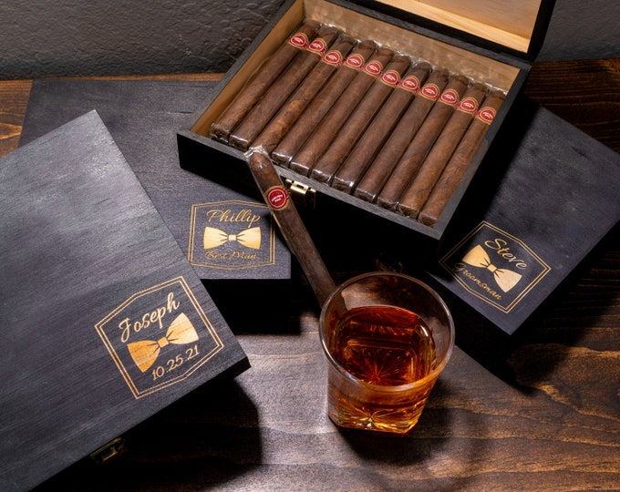 Best Man Gift Box, Man Gift Box, Mens Gift Box, Men Memory Box, Box for Men, Groomsman Box, Groomsmen Box, Cigar Box, Keepsake Box, Wooden