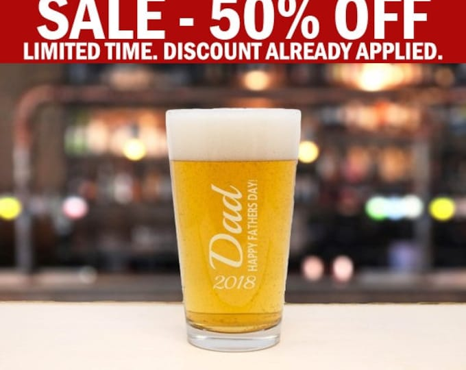 Beer Glass, Beer Gift, Pint Glass