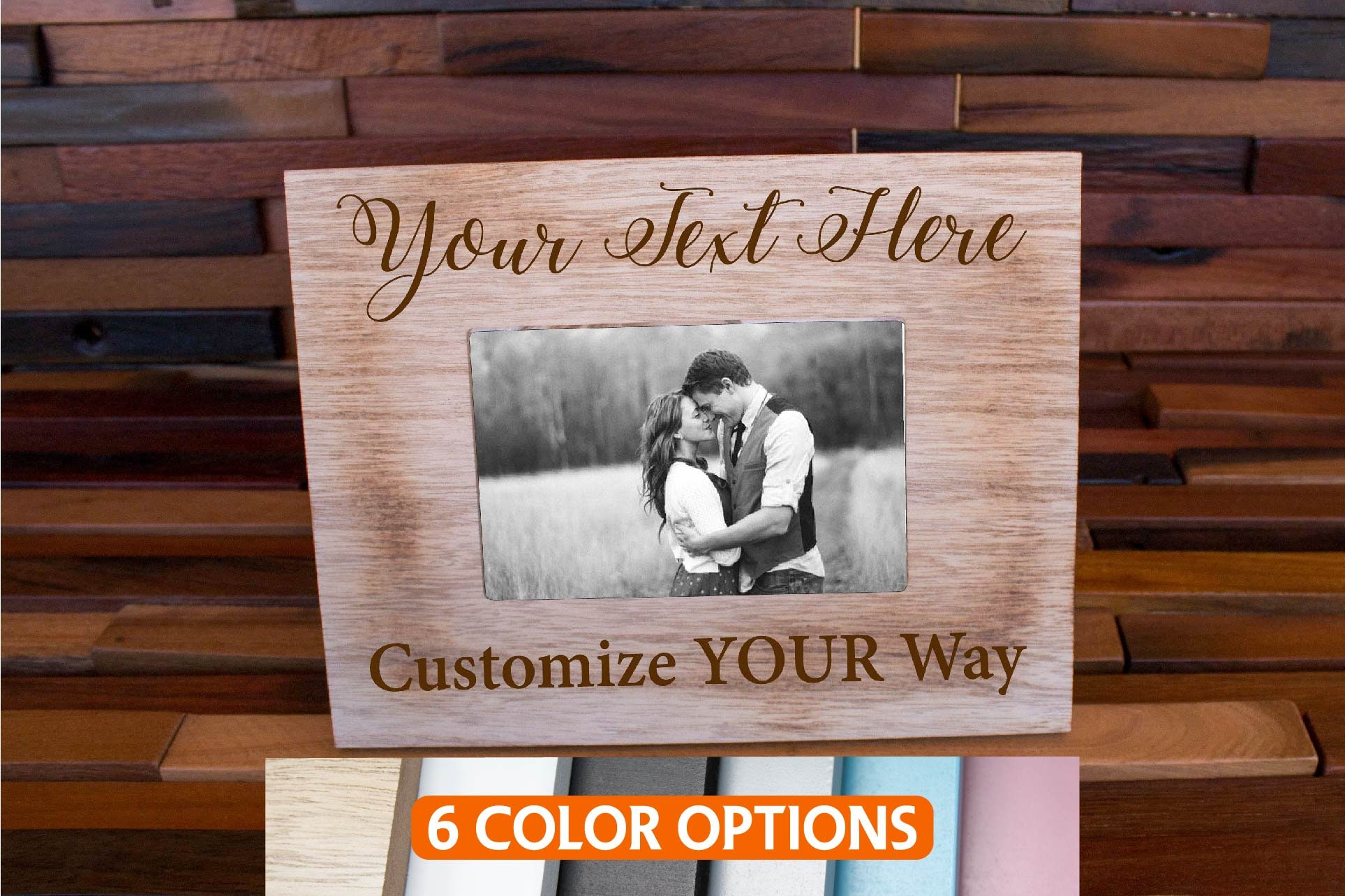 Personalized Picture Frame, Custom Photo Frame, Mr & Mrs Photo ...