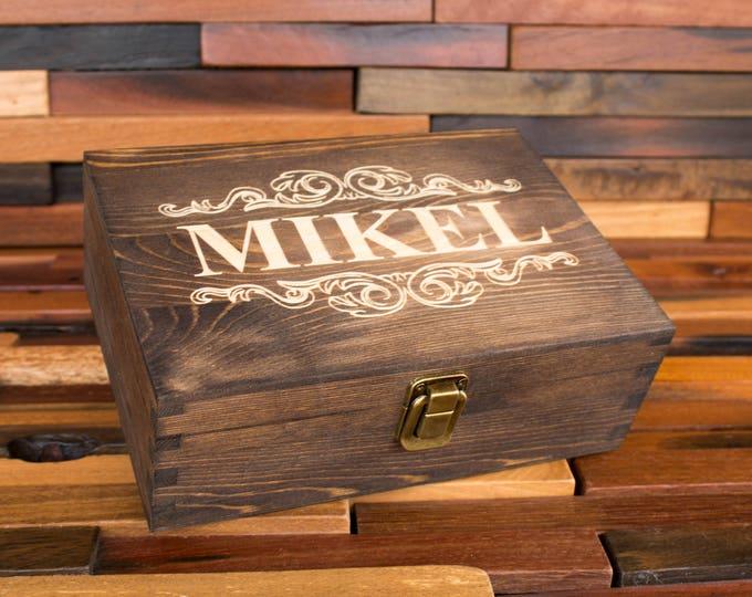 Jewelry Box, Wood Engraved Jewellery Gift Box, Custom Storage Box, Personalized Rustic Box, Keepsake Box, Trinket Box, Logo Gift Box