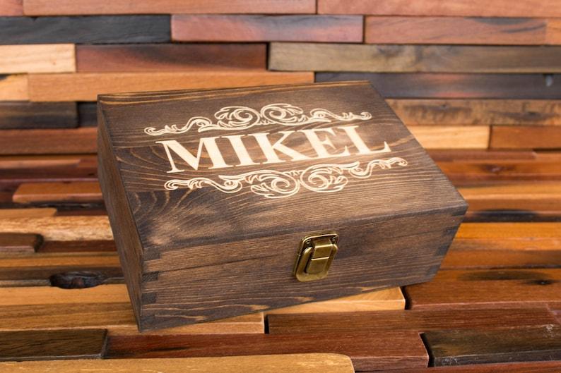 Jewelry Box Wood Engraved Jewellery Gift Box Custom Storage Box Personalized Rustic Box Keepsake Box Trinket Box Logo Gift Box