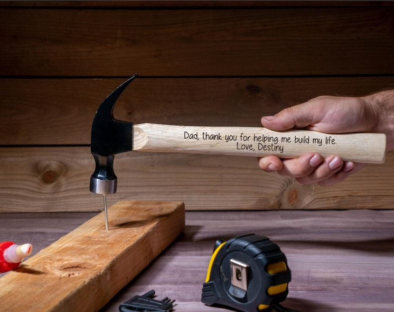 Engraved Hammer Father's Day Dad Gift Personalized image 0