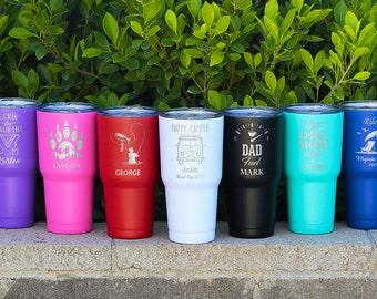 Personalized Tumbler, Insulated Tumbler, Engraved Cup, Custom Tumbler Cup, Tumbler with Straw, Monogram Tumbler, Rambler, 30oz