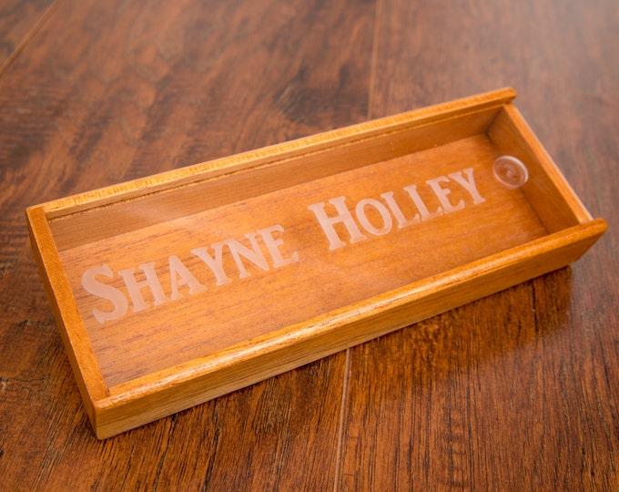 Engraved Cigar Box, Travel Sized Cigar Humidor, Personalize Cigar Box, Groomsman Cigar Case, Best Man Gift, Custom Groomsmen Humidor Storage