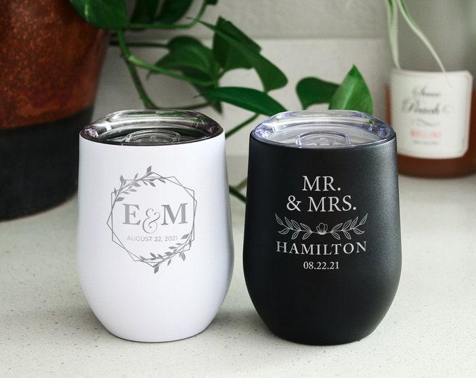 Bridal Party Wine Tumbler, Wine Bachelorette, Bachelorette Gift, Bachelorette Party Wine, Personalized Girls Trip, Bridesmaid Wine Tumbler
