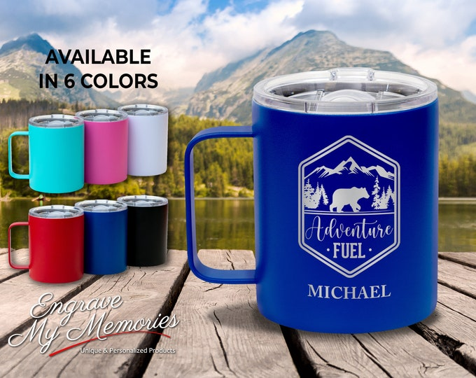 Coffee Mug, Coffee Cup, Personalized Mug, Custom Coffee Mug, Camper Coffee Mug, Campfire Mug, Insulated Coffee Mug, Custom Mugs, Coffee Gift