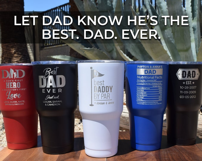 Best Dad Tumbler, Dad Nutrition Facts, Super Dad, Father's Day Tumbler, Gift for Dad, Dog Dad Gift, Dad Fuel, Coffee Gift, Insulated Tumbler