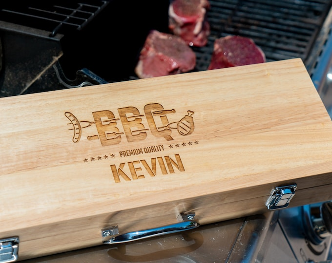Barbecue Set, Barbecue Gift, Barbecue Grill, Barbecue Tools, BBQ Tool Set, Man Gift Set, Men Gift, Gift for Men, Gift for Dad, BBQ Dry Rub