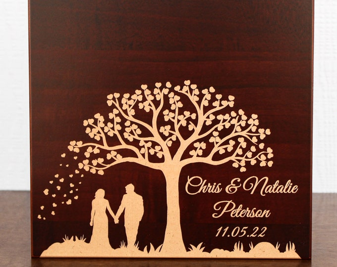 Memory Box for Wedding Gift, Anniversary Gift, Keepsake Box for Memories, Newlywed Gift, Couples Gift, Wooden Photo Box, Engraved Wood Box