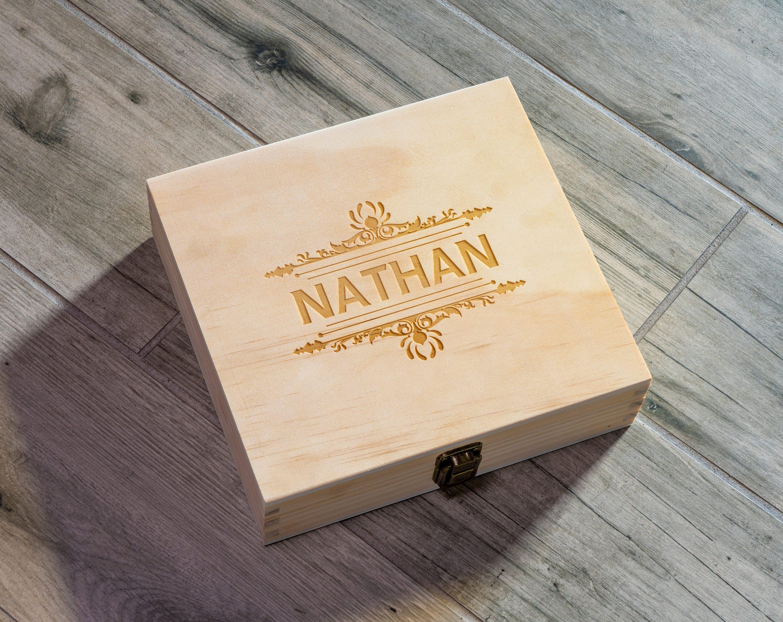Custom Box Portland Groomsmen Wooden Gift Box Birthday Gift Box Wooden Personalized Box City Map Box Wooden Keepsake Box Cigar Box