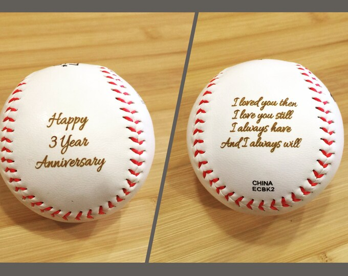 Personalized Baseball, Engraved Custom Text and Image Groomsmen Groomsman Ring Bearer Gift Wedding Favor MLB Ball, NOT vinyl