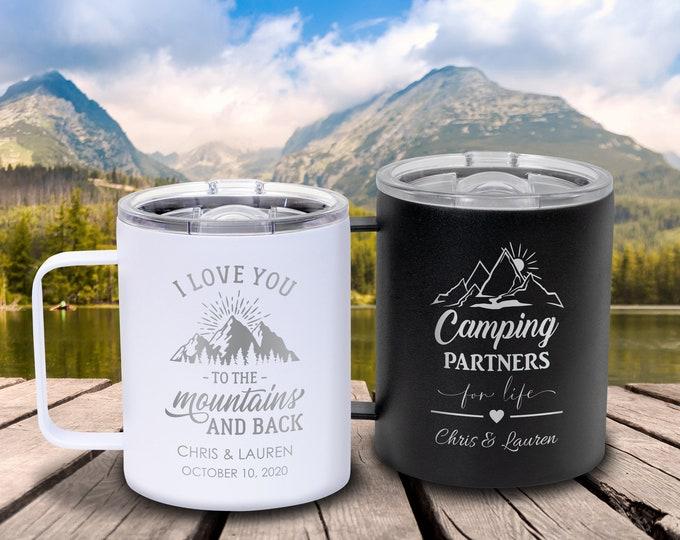 Insulated Wedding Mug, Insulated Mug, Adventure Mug, Mr and Mrs Mug, Metal Coffee Mugs, Bridesmaid Mug, Coffee Wedding Favors, Coffee Gift