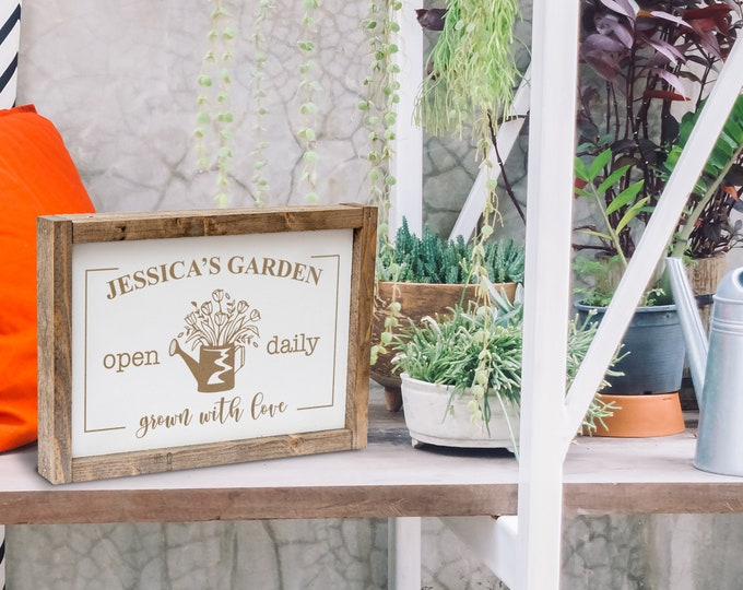 Custom Backyard Sign, Personalized Garden Sign, Rustic Wood Sign, Backyard Decor, Wooden Yard Sign, Backyard Bar and Grill, Wood Porch Sign