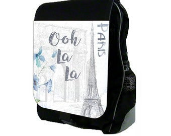 0d840e06dd Ooh La La Paris Large Black School Backpack