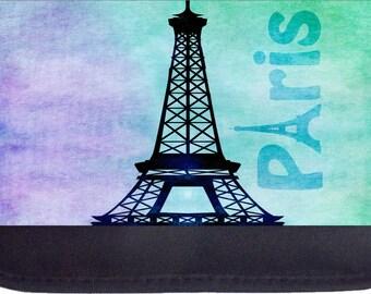 Watercolor Grunge Paris Design  - Black Pencil Bag - Pencil Case