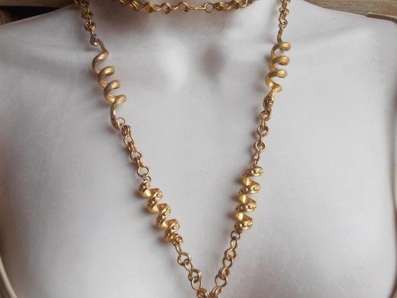 Snake Link Necklace, Butterscotch Amber Pendant E… - image 10