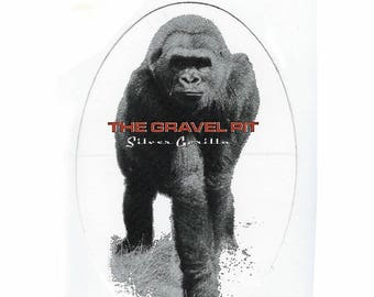 The Gravel Pit - Silver Gorilla - Bumper Sticker - 1990's