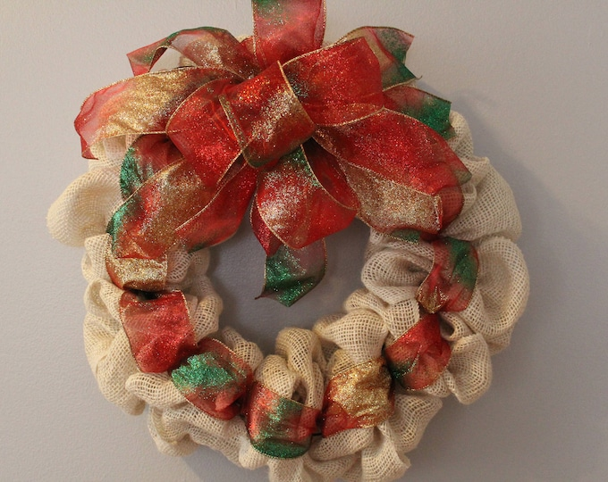 Featured listing image: White Christmas Wreath