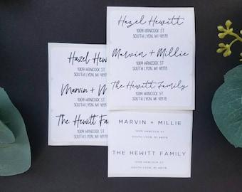 guest address labels