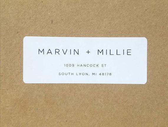 custom minimalist return address labels with modern minimalist etsy