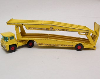 Guy Warrior Car Transporter k-8 Matchbox Lesney King Size made in England 1960's Die Cast  Toy Collection.