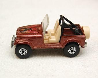 Original Hot Wheels  Jeep Cj-7, 1981, Mattel Inc, Vintage Die-cast Toy Car Collection
