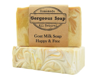 Happy & Free Goat Milk Soap - All Natural Soap, Handmade Soap, Homemade Soap, Handcrafted Soap