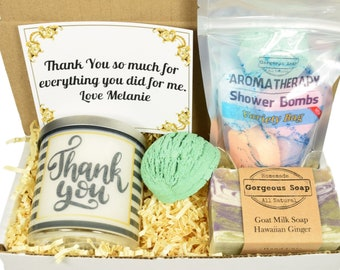 Custom Thank You Gift Box, Gift Ideas, Appreciation Gift, Thank You Gift for Co-Workers, Thank You Gift for Mentor, Thank You Gift Basket