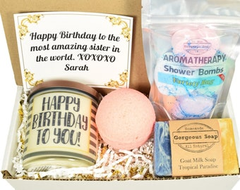 Custom Birthday Gift Box, Gift Ideas, Happy Birthday Gift Box, Happy Birthday Gift Basket, Birthday Gifts Ideas, Birthday Gifts For Her