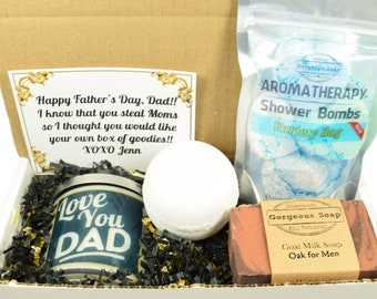 Custom Dad Gift Box For Christmas Birthday From Kids Him