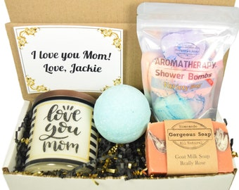 Custom Mom Gift Box, Mother Gift, Gift For Mom, Mothers Gift Set, Mom Gift Basket, Gift Box For Mom, Christmas Gift For Mom, Holiday Gift