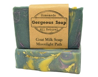 Moonlight Path Goat Milk Soap - All Natural Soap, Handmade Soap, Homemade Soap, Handcrafted Soap, Goats Milk Soaps