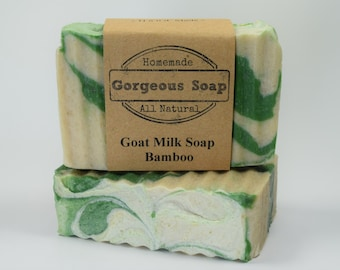 Bamboo Goat Milk Soap - All Natural Soap, Handmade Soap, Homemade Soap, Handcrafted Soap
