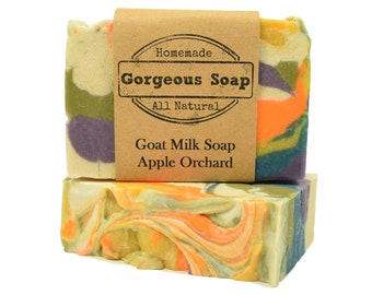 Apple Orchard Goat Milk Soap - All Natural Soap, Handmade Soap, Homemade Soap, Handcrafted Soap