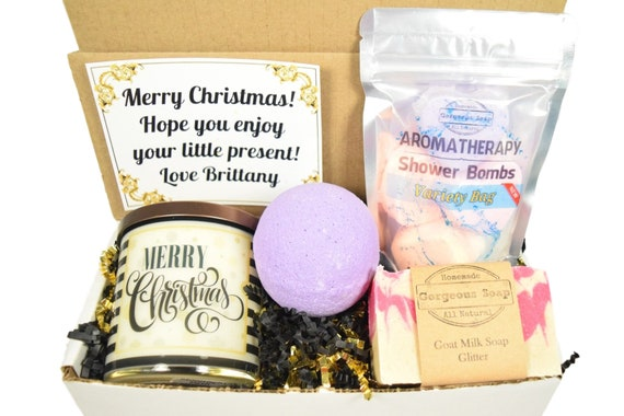 Custom Christmas Gift Box Christmas Gift Ideas Secret Santa | Etsy