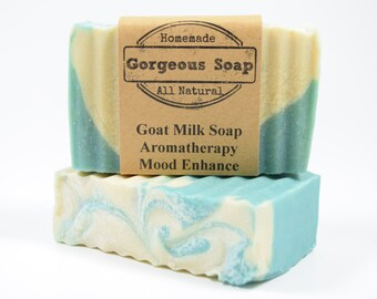 Aromatherapy: Mood Enhance Goat Milk Soap - All Natural Soap, Handmade Soap, Homemade Soap, Handcrafted Soap, Aromatherapy Soap, Mood Soaps