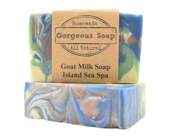 Island Sea Spa Goat Milk Soap - All Natural Soap, Handmade Soap, Homemade Soap, Handcrafted Soap