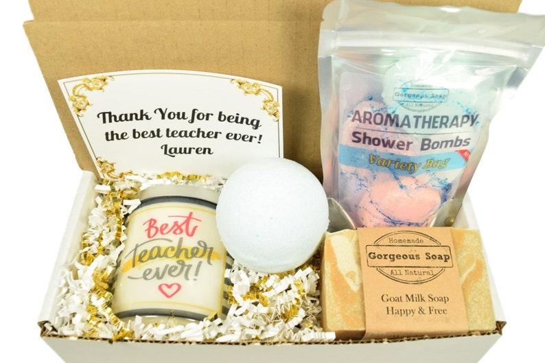 Custom Best Teacher Gift Box Teacher Appreciation Gift End Of School Year Teacher Gift Teacher Gift Basket Teacher Gift Ideas Gift Idea